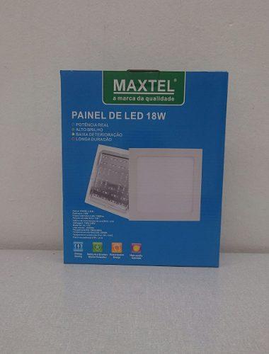 Luminarias Plafon Led 18w Embutir Maxtel Quadrado branco frio  - infoarte2005