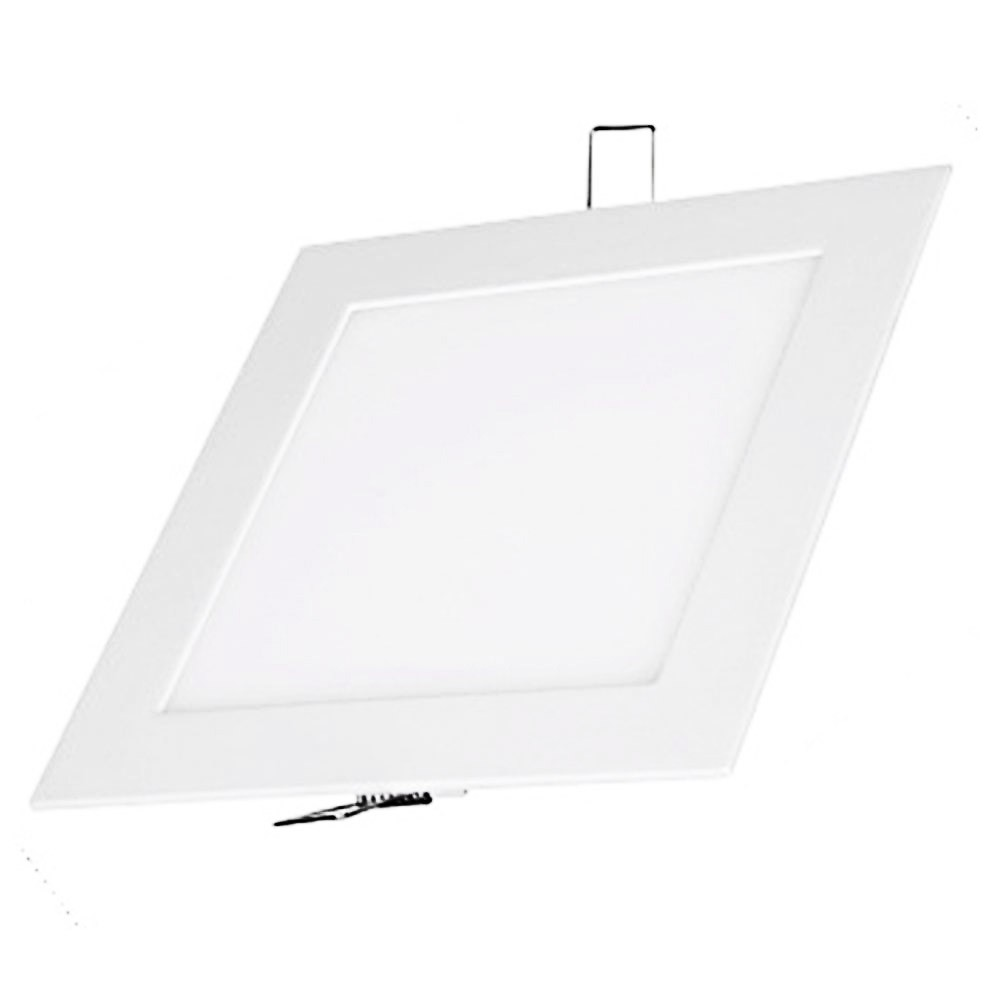 Luminarias Plafon Led 18w Embutir Maxtel Quadrado branco frio
