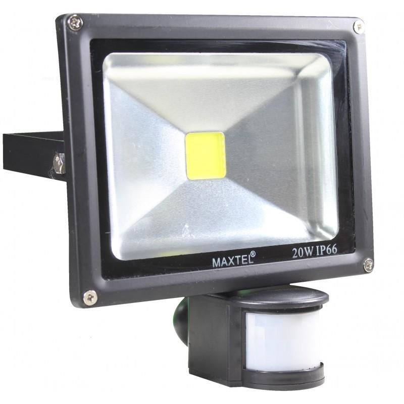 Refletores Led 20w Com Sensor Fotocelula Maxtel Ip66   - infoarte2005