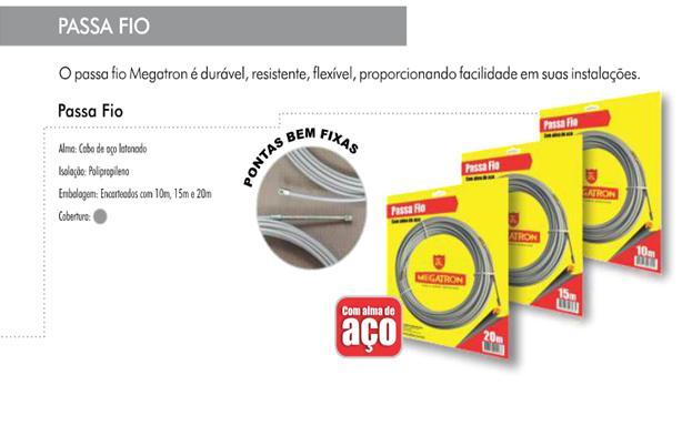 GUIA Passa Fio Megatron C/alma De Aco 15mt  - infoarte2005