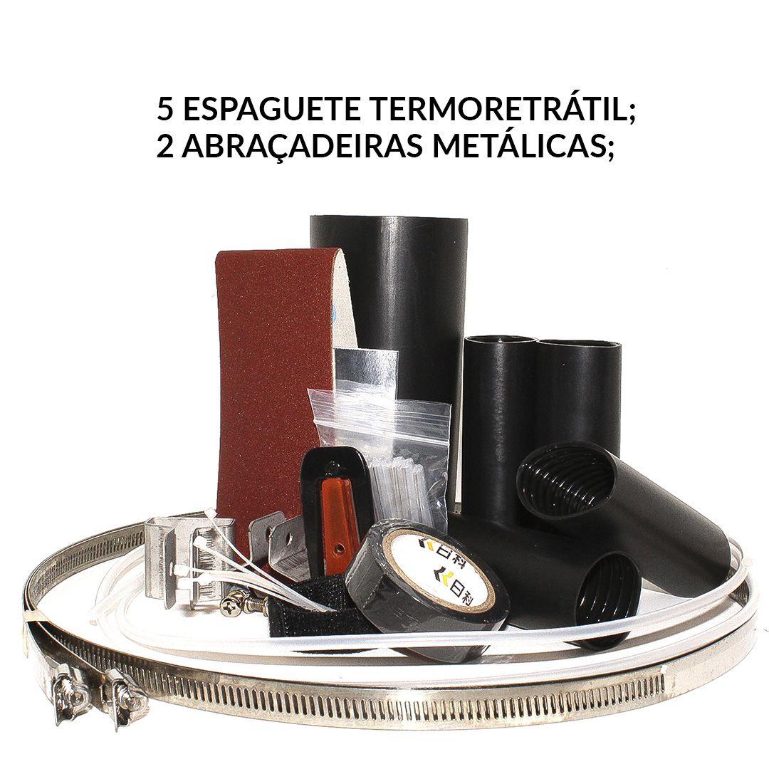 Caixa De Emenda De Fibra Óptica 72 Fibras+peças Marca 2flex  - infoarte2005
