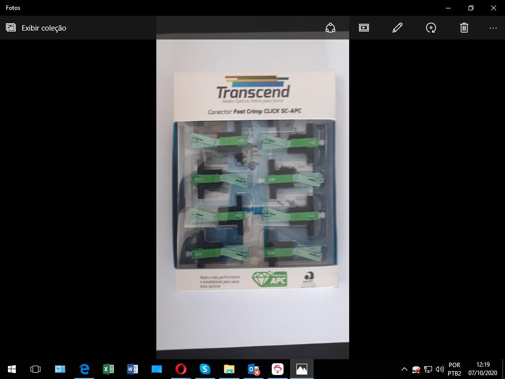 Conector Fast Crimp Transcend Sc/ Apc Kit C/ 10 Unidades  - infoarte2005