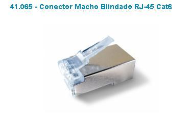 Conector Macho Rj45 Cat6 Blindado Gts Fast Track Pct 20 Pçs  - infoarte2005