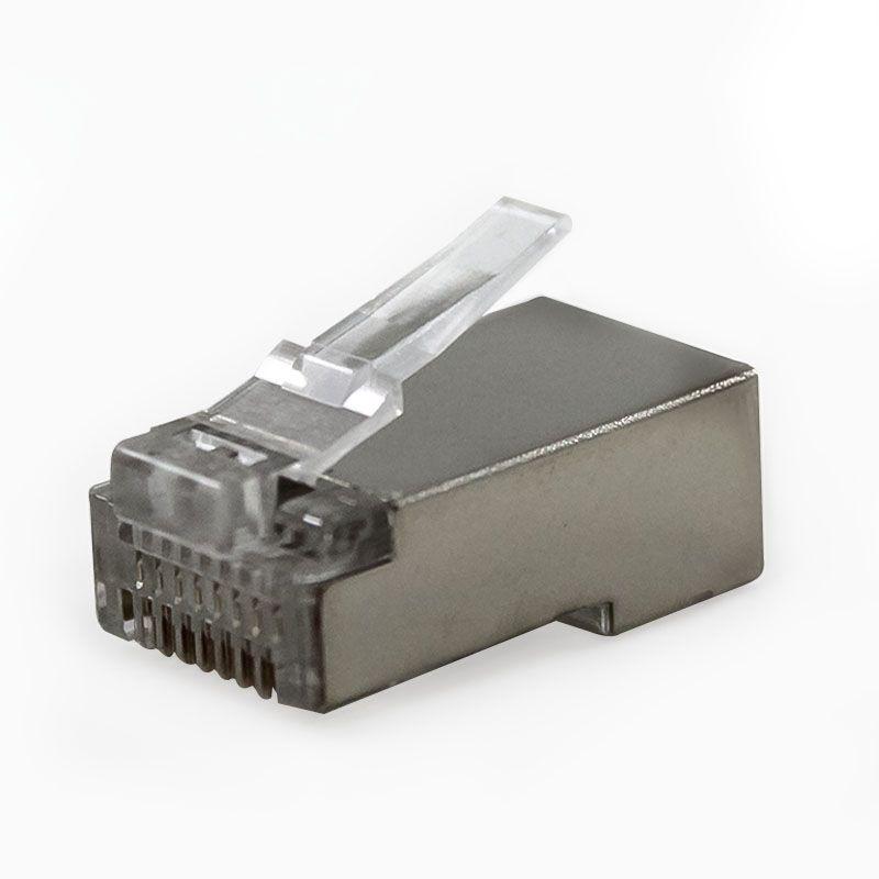Conector Rj45 Cat5 Blindado 2flex Plug Rede Lan Utp 25 Un
