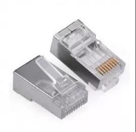 Conector Rj45 Cat5 Blindado 2flex Plug Rede Lan Utp 25 Un  - infoarte2005
