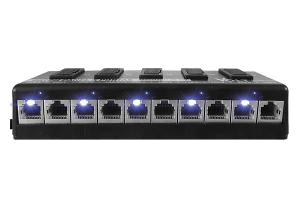 Patch Panel Poe Volt 5 Portas 12v 24v 48v Fast Ethernet - infoarte2005