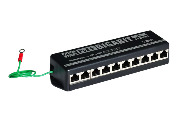 Patch Panel POE 5 Portas Gigabit Ethernet (Mimosa)  VOLT