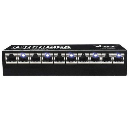 Patch Panel Poe 5 Portas Gigabit Volt 12v A 48v