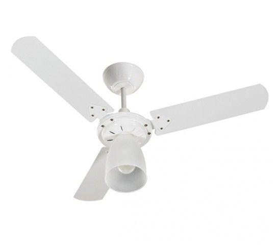 Ventilador De Teto Tron Marbela Branco 127v 3 Pás