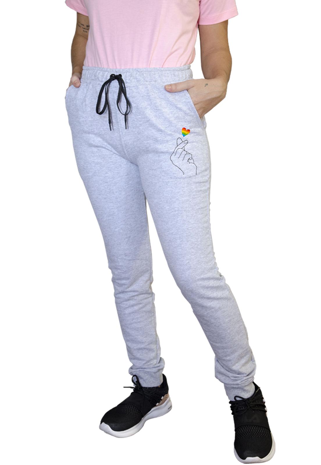 Calça Feminina Jogger Boutique Judith K-Pop Love