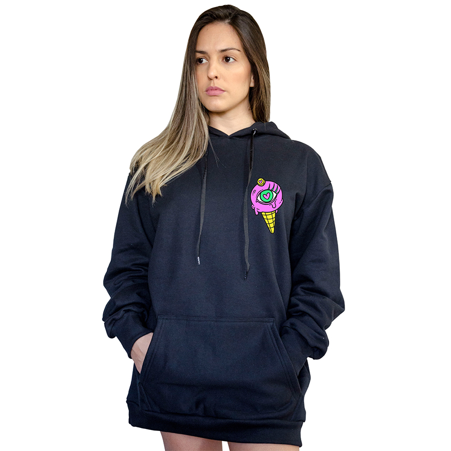 Casaco Canguru Boutique Judith Purple Ice