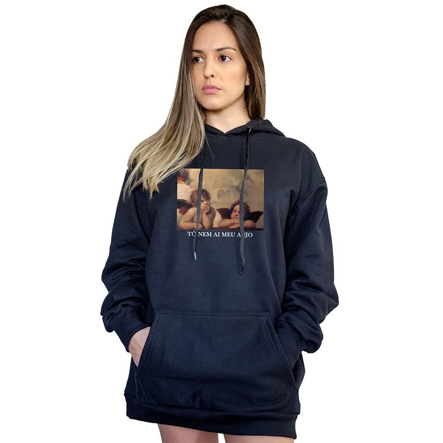 Casaco Canguru Boutique Judith To Nem Ai Meu Anjo