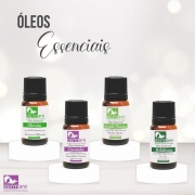 Kit Óleos Essenciais (Alecrim, Lavanda, melaleuca, Hortelão Pimenta) Dermare