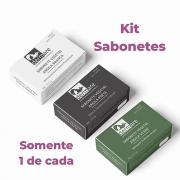 Kit Sabonete em barras Argilas (Branca,Preta e Verde)