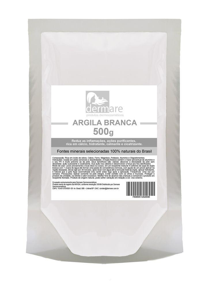 Argila Branca  Hidratante e Calmante 500g