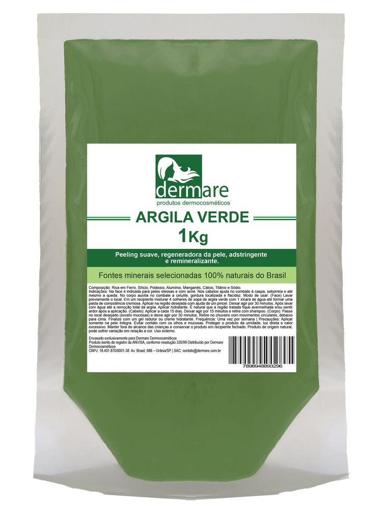 Argila Verde Adstringente e Remineralizante 1000g