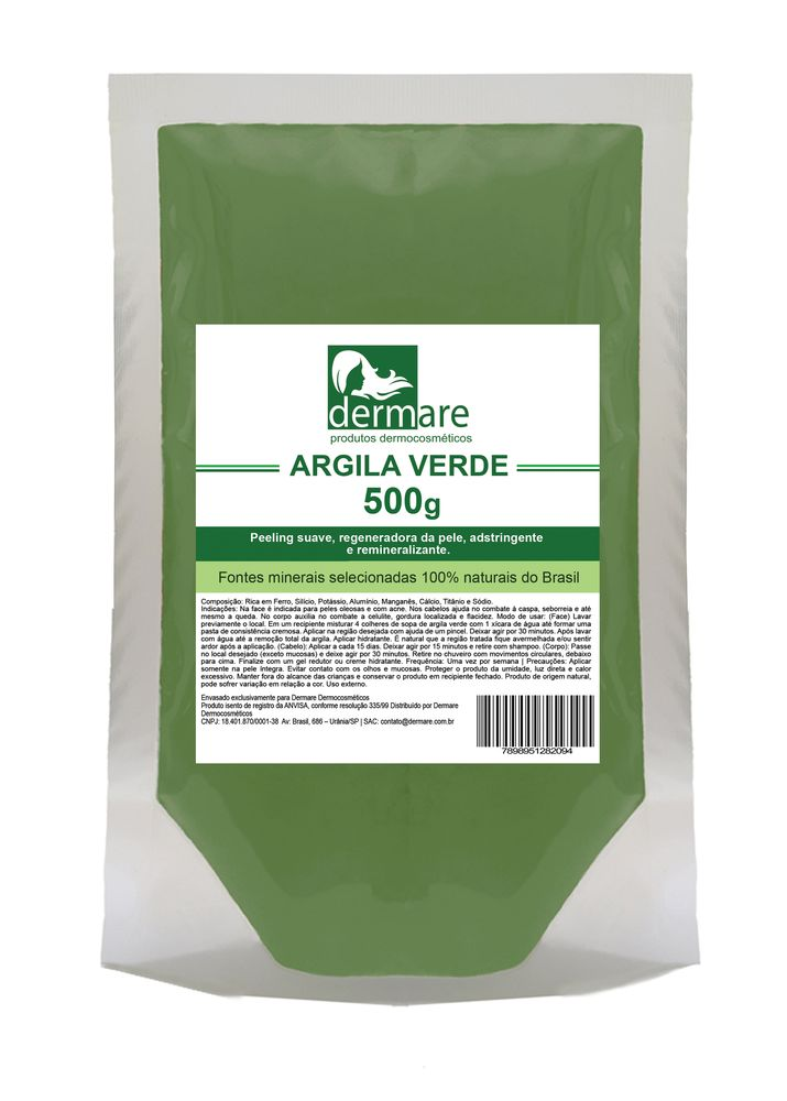 Argila Verde  Adstringente e Remineralizante 500g