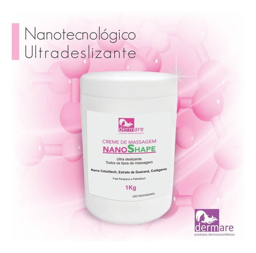 NanoShape Dermare Creme de Massagem Ultra Deslizante - 1Kg