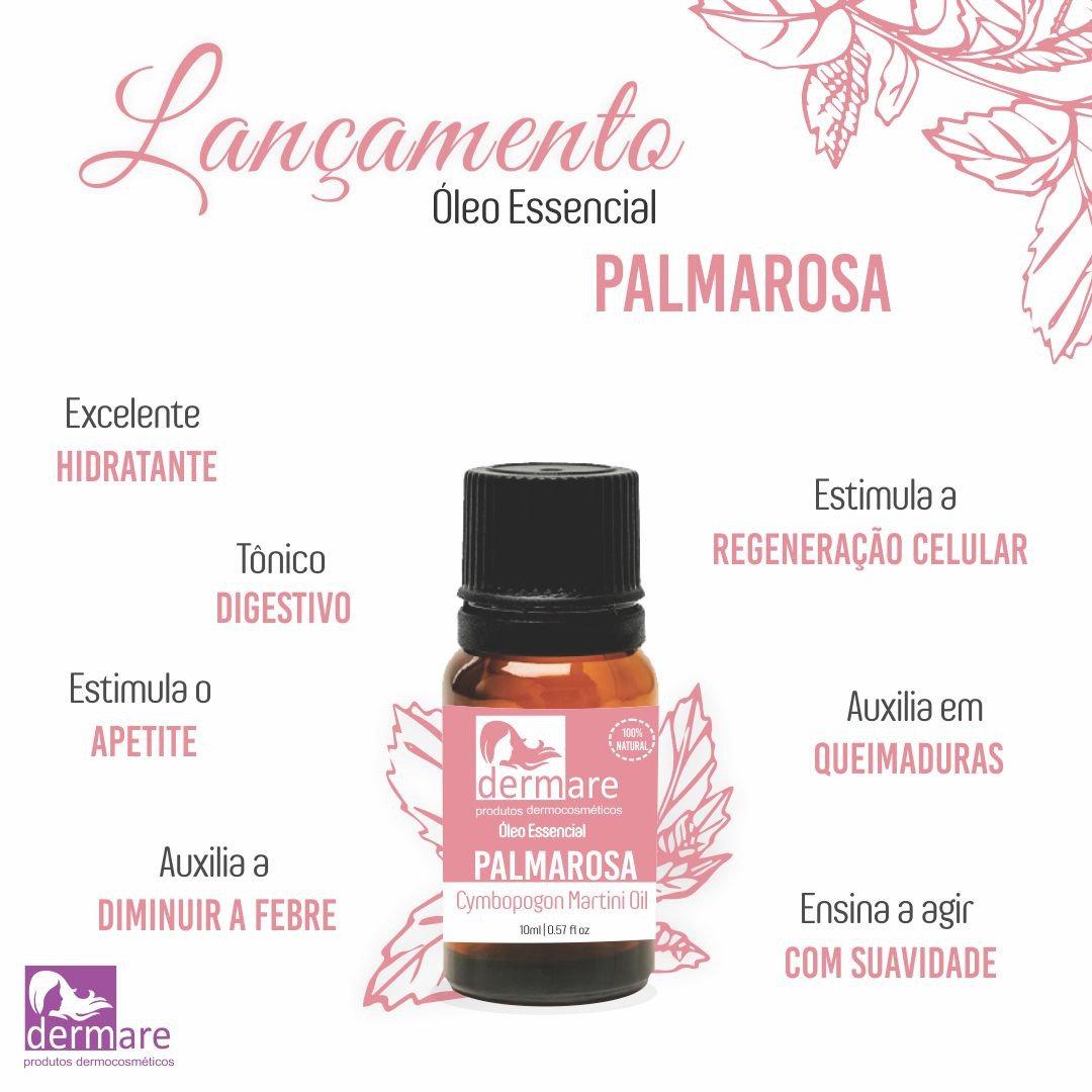 Óleo essencial Palmarosa 10 ml Dermare