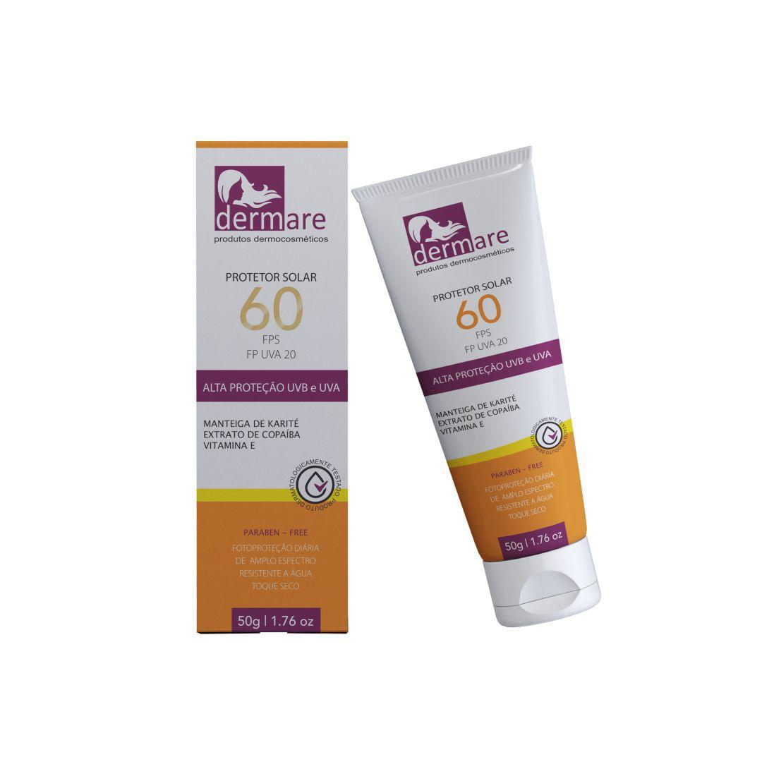 Protetor Solar FPS 60 FP UVA 20 Dermare 50g