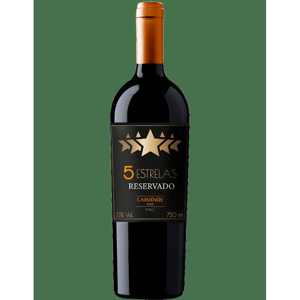Vinho 5 estrelas reservado Carménère