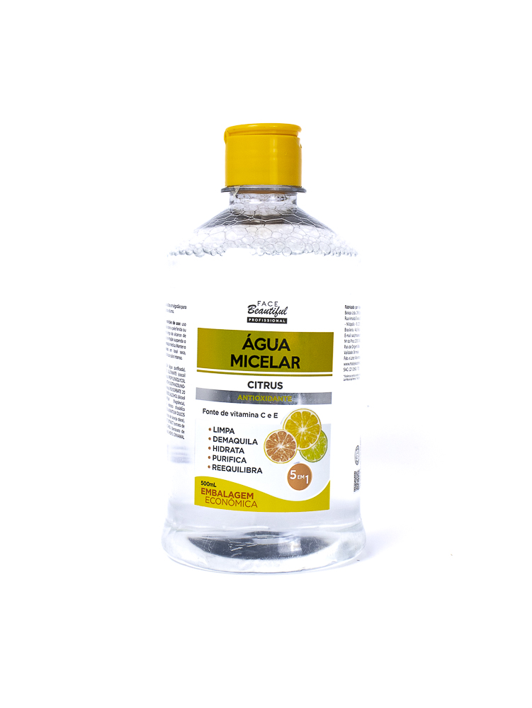 Água Micelar Citrus 500ml - Face Beautiful