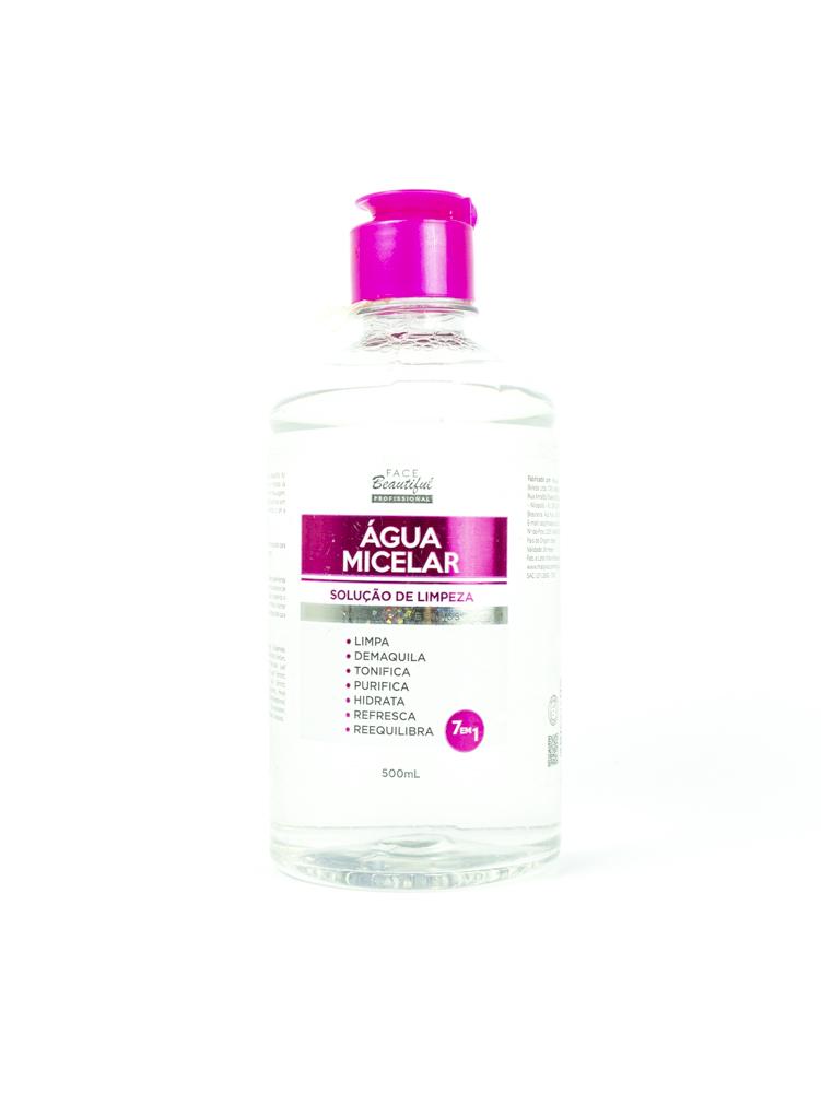 Água Micelar Solução de Limpeza 500ml - Face Beautiful