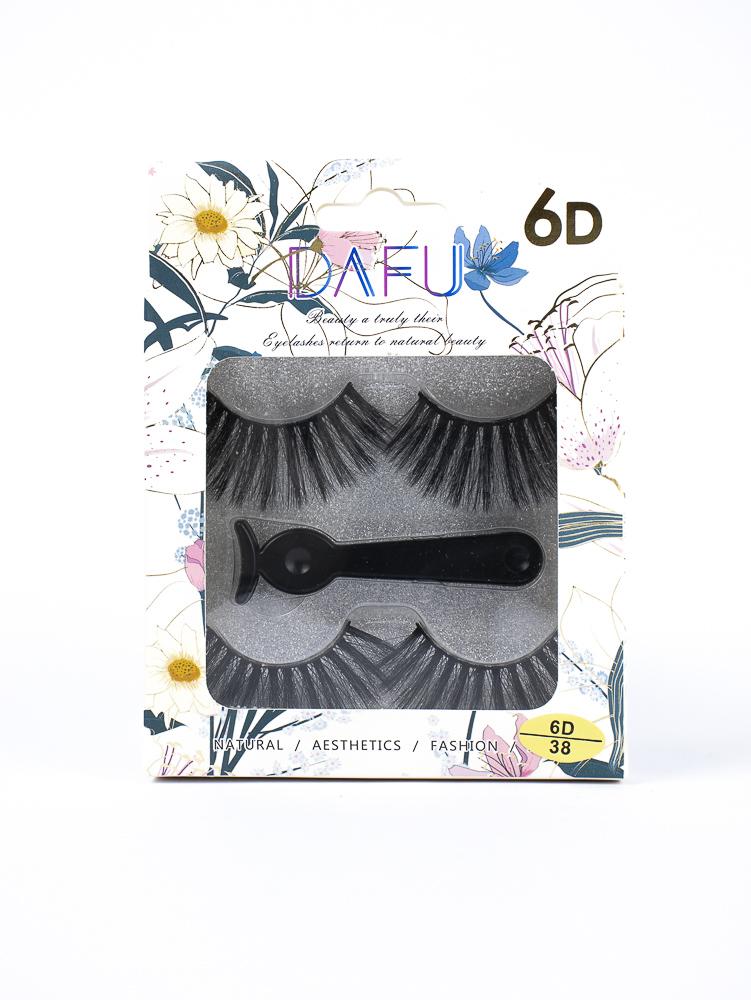 Cartela de Cílios 6D + Pinça