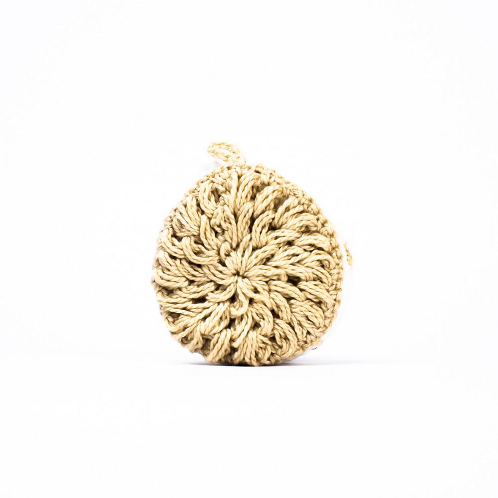 Kit 3 Ecopads - Discos de Crochê 100% Algodão Reutilizáveis