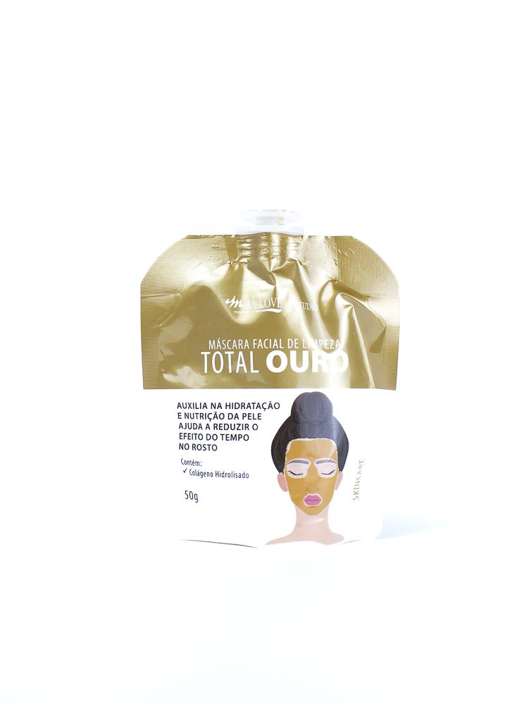 Máscara Facial de Limpeza Total Ouro - Max Love