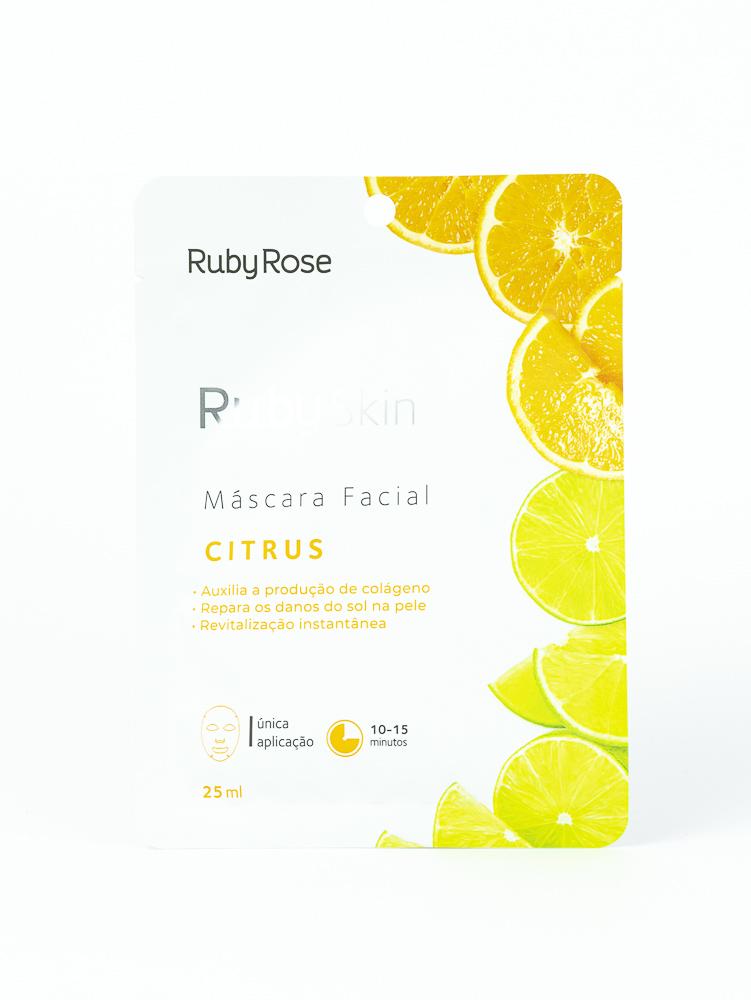 Máscara Facial de Tecido Citrus - Ruby Rose