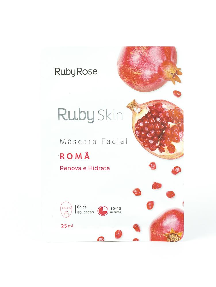 Máscara Facial de Tecido Romã - Ruby Rose