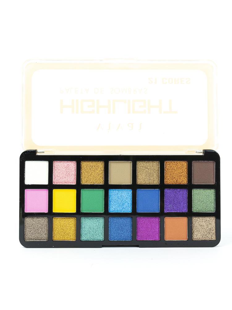 Paleta de Sombras Highlight 21 cores - Vivai