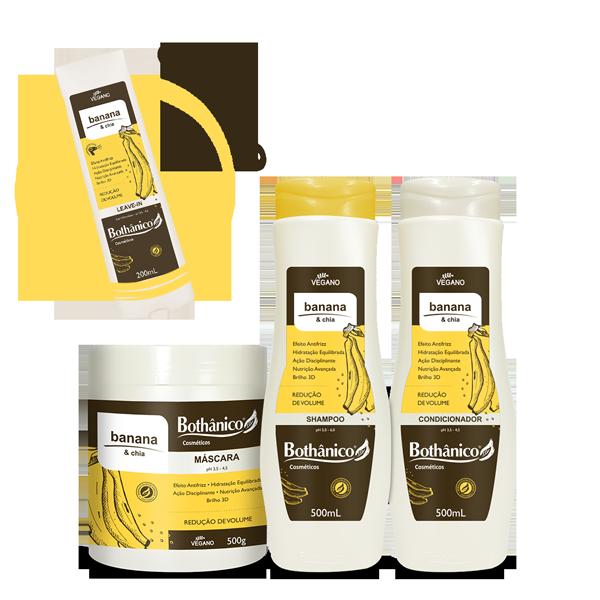 Combo Banana & Chia - Especial Dia do Cliente- Ganhe Leave-in