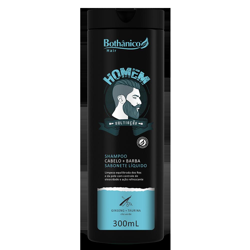 Shampoo Cabelo E Barba Homem 300mL