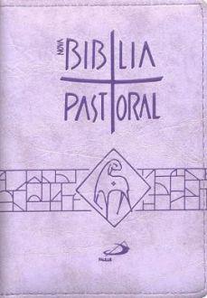 NOVA BÍBLIA SAGRADA CATOLICA PASTORAL BOLSO ZÍPER LILÁS PAULUS