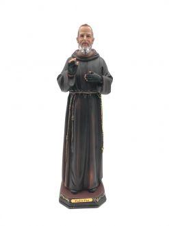 Imagem Padre Pio Resina Grande 30 cm