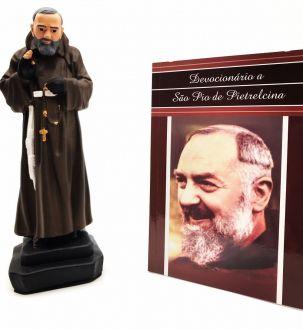 Kit Imagem de Padre Pio + Devocionário