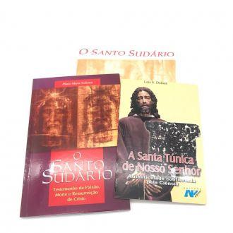 Kit Livro + Tecido do Santo Sudário