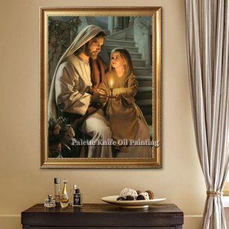 QUADRO DE PAREDE JESUS CRISTO e CRIANÇA