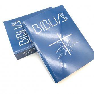Bíblia Sagrada de Aparecida Média Capa cristal Azul Santuario