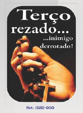 ADESIVO TERÇO REZADO... INIMIGO DERROTADO!