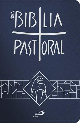 NOVA BÍBLIA SAGRADA CATOLICA PASTORAL BOLSO ZÍPER AZUL PAULUS