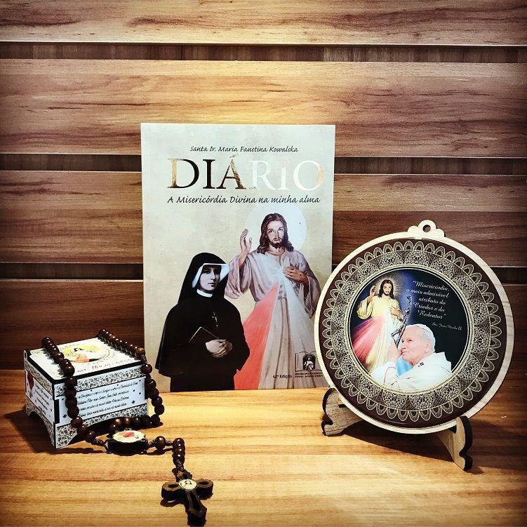 KIT HISTÓRIA E DIÁRIO SANTA FAUSTINA E JESUS MISERICORDIOSO