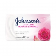 Kit c/ 24 Sabonete em Barra Johnson's Daily Care Rosas e Sândalo 80g