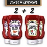 Kit c/ 2 Ketchups Heinz Bacon + 2 Ketchups Heinz Tradicional
