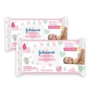 Kit c/ 2 Lenços Umedecidos JOHNSON'S Baby Extra Cuidado 96 unidades