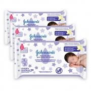 Kit c/ 3 Lenços Umedecidos JOHNSON'S Baby Hora do Sono 48 unidades