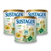 Kit c/ 3 Sustagen Fit Complemento Alimentar Sem Sabor 370g