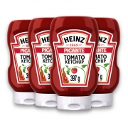 Kit c/ 4 Ketchup Heinz Picante 397g